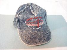Vintage GOLDEN GATE BRIDGE - SAN FRANCISCO Acid Wash Blue Denim Cap Hat NOS New