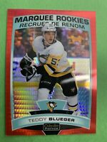 2019-20 OPC Platinun Marquee Rookie Red Prism #156 Teddy Blueger 190/199 RC