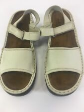 Noat Pamela Womens Ankle Strap Sandals Sand Stone Leather Size 41 New