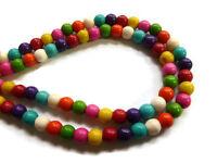 20 perle 8mm Naturel Pierre Mixte creation bijoux, bracelet, collier