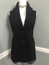new $1295 Michael Kors Collection black vest/blazer, made in Italy, size 6