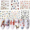 6 Sheets Colorful Flower Tree Deer Cat Nail Art Water Decals Transfer Stickers
