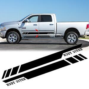 For Dodge Ram 1500 2500 3500 2010-17 Black Vinyl Sticker Side Door Stripe Decal