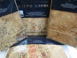 Ralph Lauren VERDONNET Camel Paisley Floral Duvet Cover Sham Bedskirt Set- Queen
