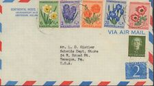 1953 NETHERLANDS FIRST DAY ? FLOWERS SET TO UNITED STATES