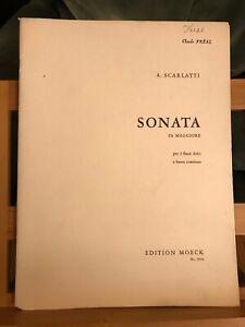 A. Scarlatti Sonate en Fa partition 3 flûtes a bec basse continue éd. Moeck 1036