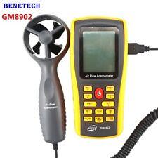 GM8902 Digital LCD Air Flow Anemometer Wind Speed Meter Thermometer