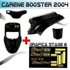 BODY KIT BLACK MBK BOOSTER BW'S FROM 2004 + STICKER STAGE 6 ADESIVI ORO