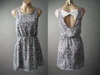 1e1420ad4bd2 Black White Ditsy Floral Print Bow Back French 60s Gamine Sun 131 mv Dress  S M L
