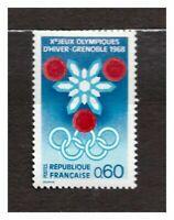 France 1967 MNH Olympic Winter Games 1v s24983
