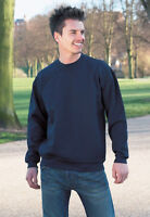 NAVY BLUE PLAIN WORKWEAR QUALITY MENS SWEATSHIRT CLEARANCE SWEATER PULLOVER