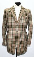 "SUPERB STOVEL AND MASON SAVILE ROW TAILORED BESPOKE CHECK SPORTS JACKET 40"" LONG"