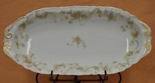 Haviland France Limoges Floral Design Gold Accent Serving Tray Platter Dish Bowl