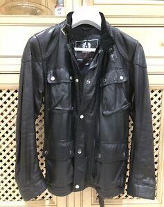 Belstaff GOLD Label Trialmaster Black Leather Jacket Ladies Size 42 UK 10-12
