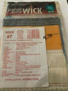 CUI #7 wick for several kerosene heaters