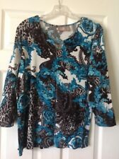 chicos tops size 2, Rayon - Spandex, Turquose Color Green,tunic