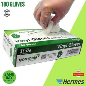 Disposable Vinyl Examination Gloves Powder Latex Free Strong Tattoo Food PPE 100