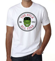 The HULK All Star Converse Mens T-Shirt Est 1962 Unisex Superhero White T-shirt