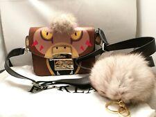NEW Authentic FURLA Metropolis Crossbody Bag MONKEY Animal Face Bag+FREE POMPOM