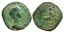 *Lucernae* Very rare Orbiana AE sestertius, Rome, CONCORDIA AVGVSTORVM, SC.