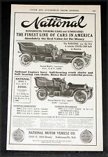 1907 OLD MAGAZINE PRINT AD, NATIONAL MOTOR CARS, THE BEST VALUE FOR THE MONEY!