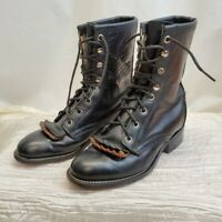 Vintage Laredo leather kilties, granny boots sz 5