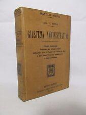 Vitta Cino - Giustizia amministrativa - Manuali Hoepli 1903 Prima edizione