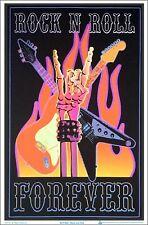 Rock N Roll Forever Blacklight Poster 23 x 35