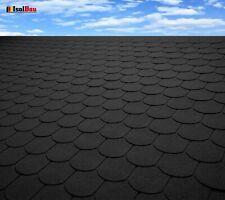 Dachschindeln 30m? Biberschindeln Schwarz (10 Pakete) Schindeln Dachpappe