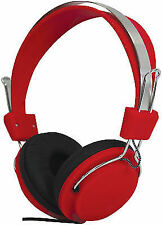 Sound Lab Fashion Colours Stereo Headphones Red (new) 1501524