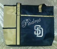 San Diego Padres Rhinestone Blinged MLB Purse Tote Bag ~NEW~