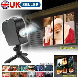 Halloween Light Santa Window Projector Festival Movies Display Christmas Lamp UK