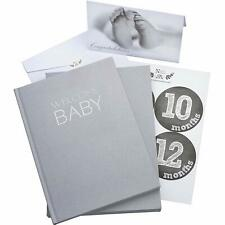 Baby Memory Book Journal with Monthly Milestone Stickers and Congratulation