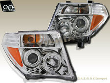 FIT FOR 05-08 NISSAN FRONTIER 05-07 PATHFINDER CHROME CCFL PROJECTOR HEADLIGHTS