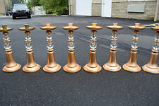 """+ Set of 8 Matching Altar Candlesticks + 18 1/2"""" ht. + + chalice co. (#806)"""