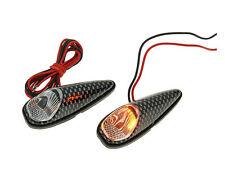 Gilera Runner 125 FX DT LC  Custom LED Mini Indicator Light Set - Carbon Effect