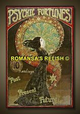 romany/gypsy fortune telling  poster ( RARE ) 1900's vint 442