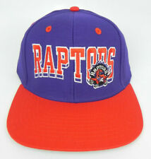 new style 8fd34 0c9de TORONTO RAPTORS NBA VINTAGE STYLE SNAPBACK FLAT BILL BLOCK 2-TONE CAP HAT  NEW!