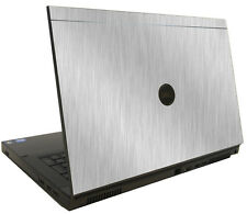 BRUSHED ALUMINUM Vinyl Lid Skin Cover fits Dell Precision M6600 Laptop