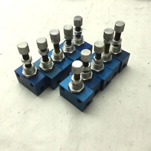 Lot of 10 Festo GR-M5 Flow Control Valves, Pressure Rating: 0.5-10bar, M5 Ports