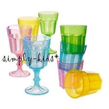 IKEA Kids Kitchen Pretend Play DUKTIG 4 Miniature Drinking Glasses & 4 Goblets