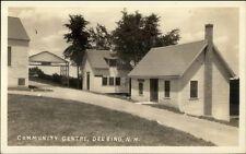Deering NH Community Center Real Photo Postcard #2