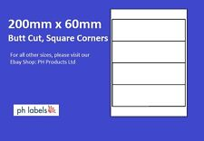 A4 White Multi-Purpose 4 to view 200mm x 60mm Self adhesive labels (500 Sheets)