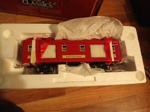 Lionel Classics std gauge red/cream 323 baggage car