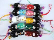 Wholesale lot 20 pcs Japanese Oriental Kokeshi Doll Handbag Charm