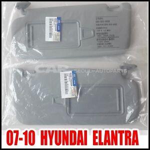 Hyundai 07~10 Elantra Driver Left Passenger Right Inside Sun Visor Gray 2EA=1SET