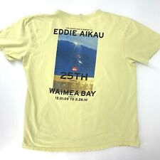 Quicksilver 25th Annual Eddie Aikau Surf Waimea Bay Hawaii Poster T-Shirt L