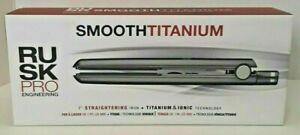 "NEW RUSK PRO 450° SMOOTH TITANIUM IONIC 1"" HAIR STRAIGHTENER FLAT IRON IRP2197UC"