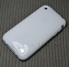New White Rubber Soft silicone case cover for iphone 3g 3gs