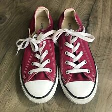 Red Converse All Stars Low Tops Size 3